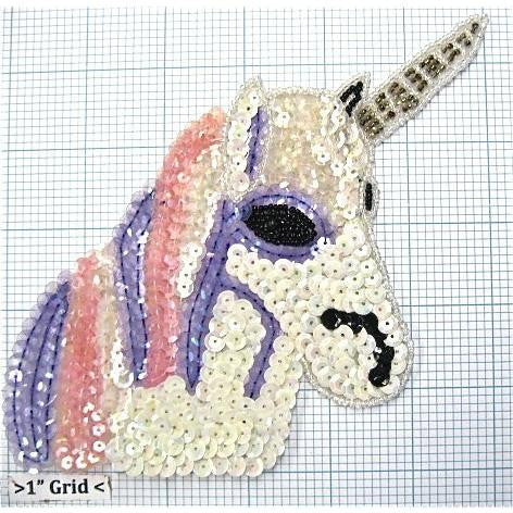 "Unicorn Pink Purple White 8"" x 4"""