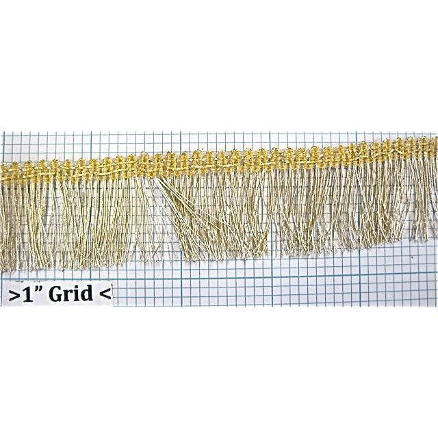Trim with Bullion Yellow Beige Fringe 1.5""