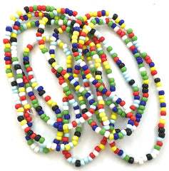 "Beads MultiColored Southwestern Theme Two Sizes 58"" and 11"" Long"