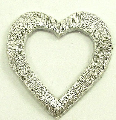 "Heart with Cut-Out Gold Metallic Iron-on 4 for $2.00 2"" x 1.5"""