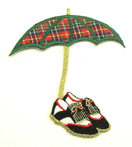 "Golf Umbrella and Golf Shoes 4"" x 4"""