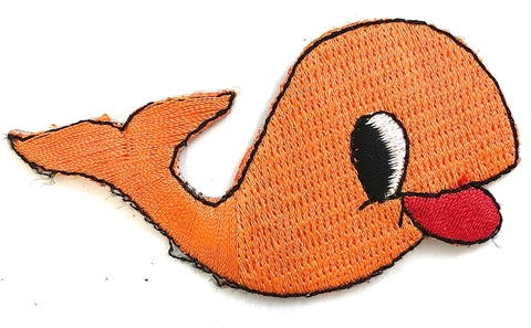 "Fish Embroidered Patch Iron-On 3"" x 2"""
