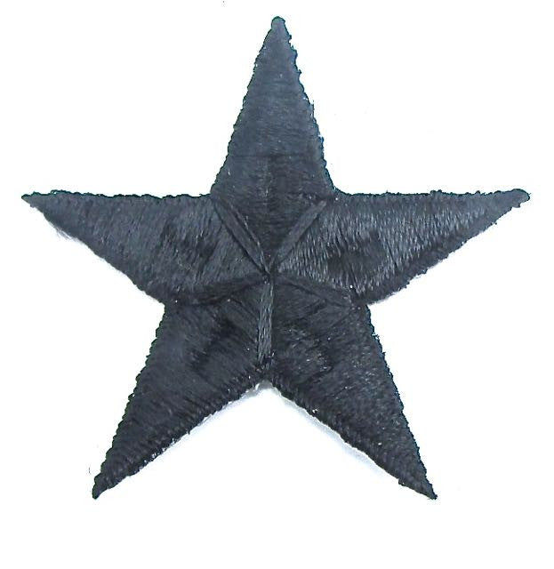 Star*Black Embroidered Iron-On 2.5""