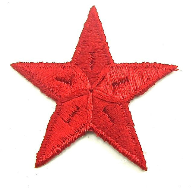 Star Red Embroidered Iron-On 2.5""