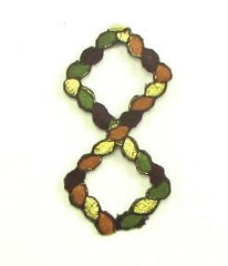 "Designer Motif Rope Multi-Colored Embroidered Iron-On 2.25"" x 1.25"""