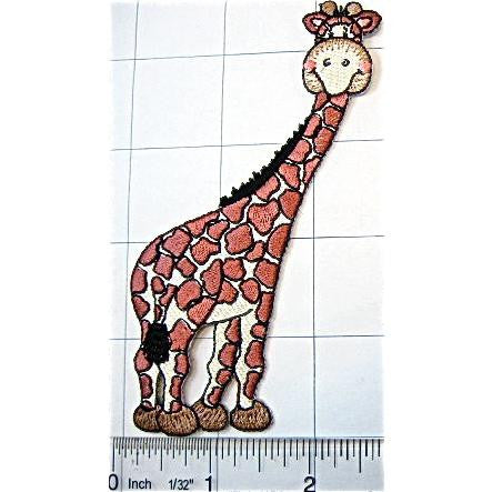 "Giraffe with Smiling Face Embroidered 4"" x 3"""