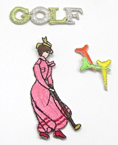 "Golf Assortment, Multi-Colored, Embroidered Iron-Ons  1"" to 3"""