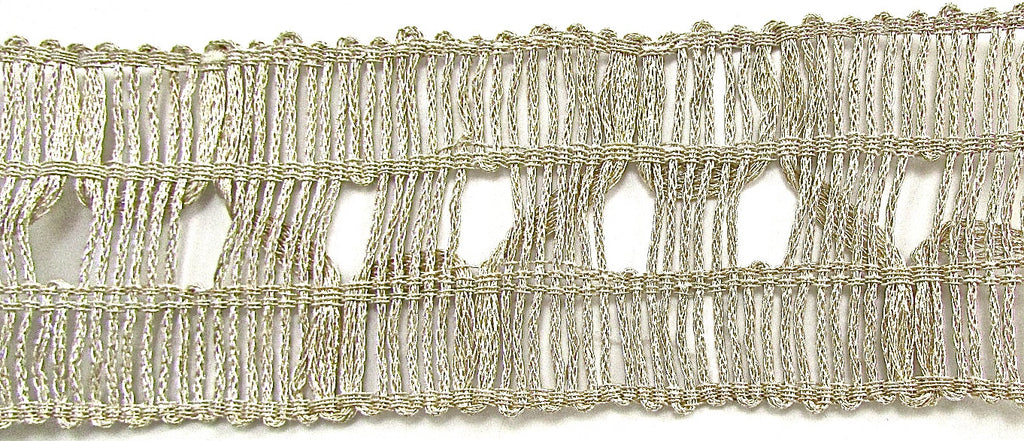 "Trim Light Gold Bullion thread 1.5"" Wide, Sold by the Yard"