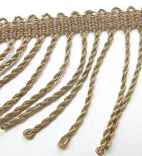 Load image into Gallery viewer, Trim with Bronze Bullion Shiney Fringe 2.5""