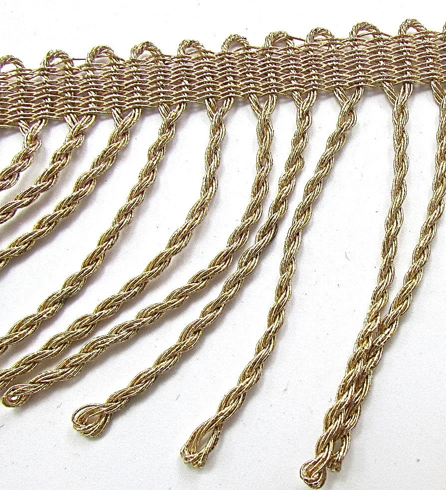 Trim with Bronze Bullion Shiney Fringe 2.5