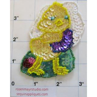"Chicks Easter Yellow Sequins 3"" x 3"""