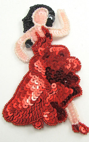 "Flamenco Dancer Emoji 5.5"" x 3"""