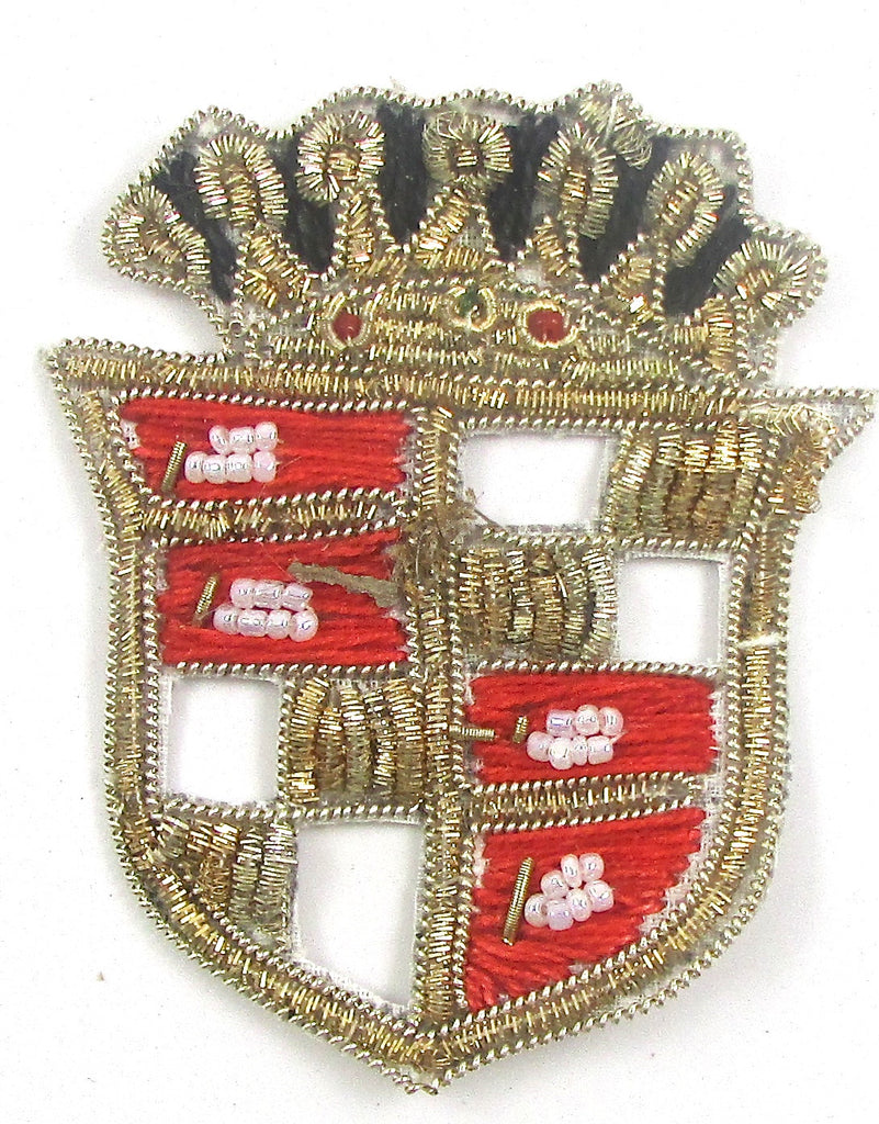"Crest with Bullion Thread 3"" x 2"""