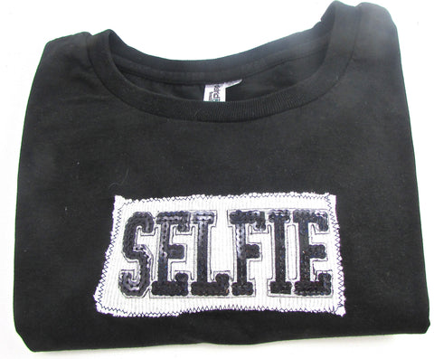 T-Shirt with SELFIE Sewn On