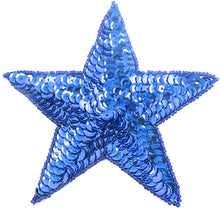 Load image into Gallery viewer, Star with Royal Blue Sequins and Beads 5""