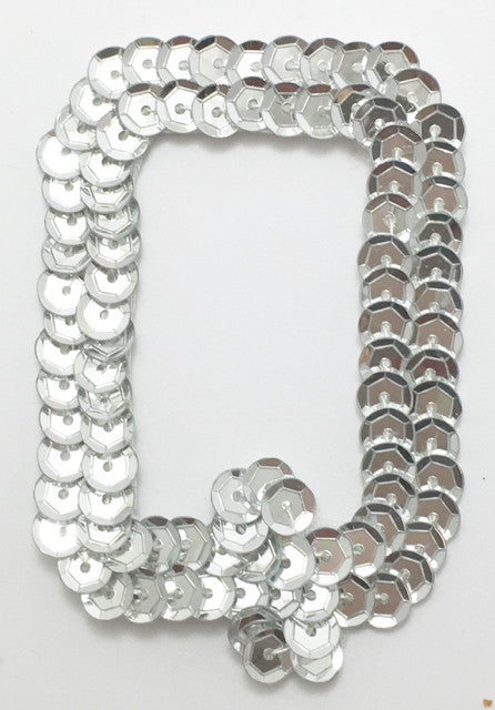 Letter Q Silver with No Beaded Edges 2""