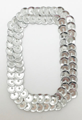 Letter O Silver with No Beaded Edges 2""