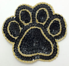 "Paw Prints Four New Color Combinations New Style 3"" x 3"""