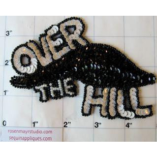 "OVER THE HILL Applique 3.5"" x 5"""