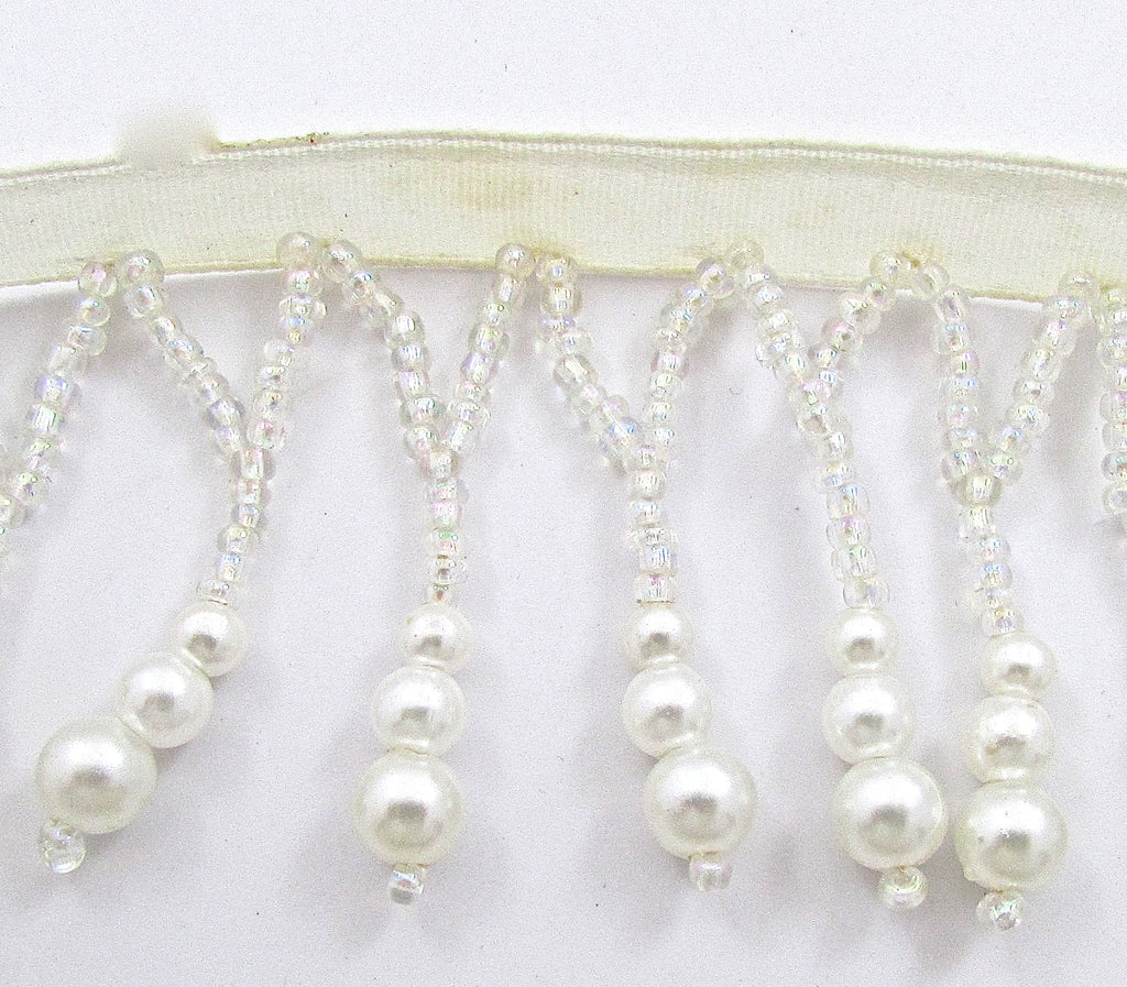 Fringe White Pearls 2""