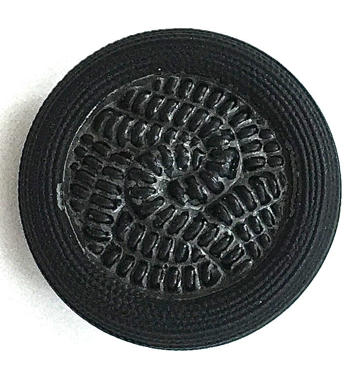 Button Black with a Rope Pattern Two Sizes