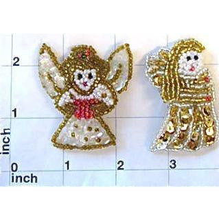 "Angel set of Two 2"" x 2"" - Sequinappliques.com"