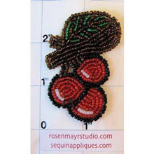 "Load image into Gallery viewer, Cherries on a Branch, All Beads 1.5"" x 2"""