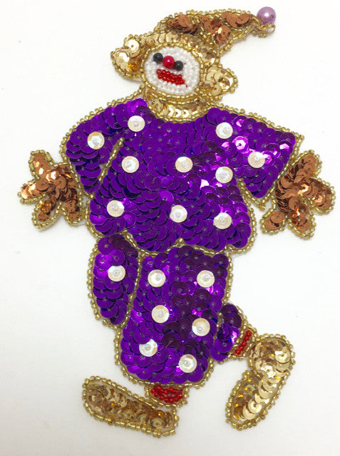 "Clown Purple 6.5"" x 4"""