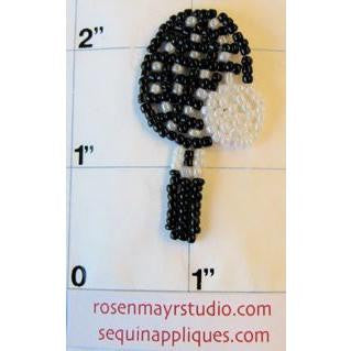 "Tennis Racquet Beaded 2"" x 1"""