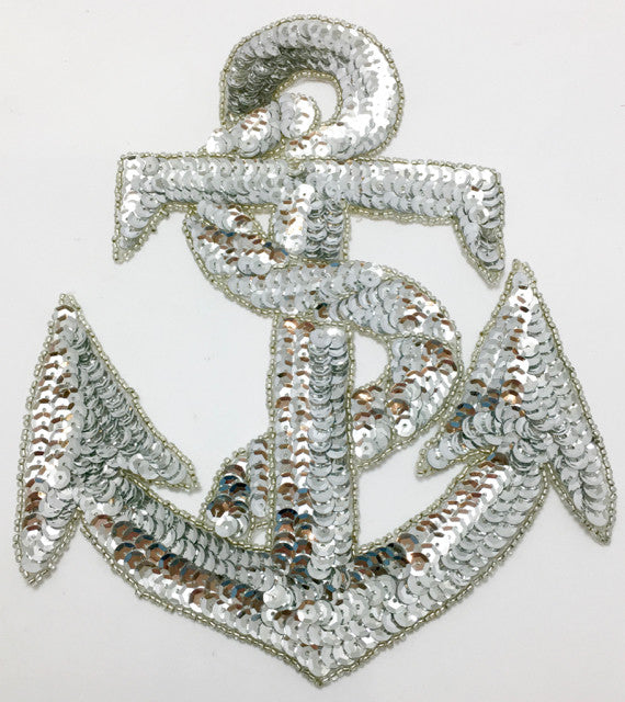 Anchor with Silver Sequins and Beads, variants in size and color