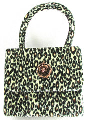 "Purse Childs Jungle Handbag With Butterfly  5"" x 5.5"