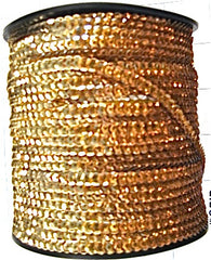 Gold Sequin Trim, 3 Yards Each, Sequin Size Choice 1/8 or 1/4""