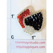 Load image into Gallery viewer, Diamond and Spade, Sequin Beaded  1.5""