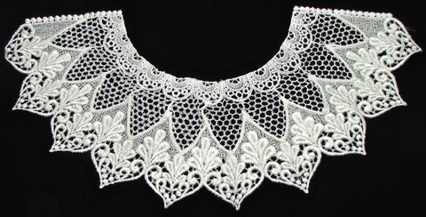 "Designer motif neck line all embroidered 13"" x 6"""