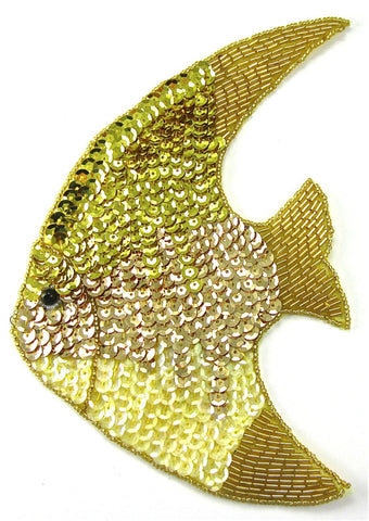 "Fish Large with Multi-Colored Yellows 7"" x 5"""