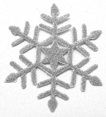 Snowflake with Silver Metallic and Iron-On 2.25