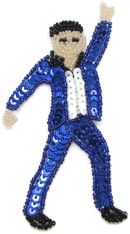"Man Dancing Emoji  Blue Suit 5"" x 2.5"""