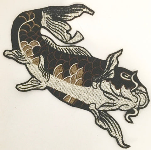 "Carp Embroidered fish 8"" x 5.5"""