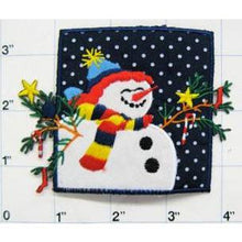 "Load image into Gallery viewer, Snowman with Blue Sky and Star, 4"" x 3"""