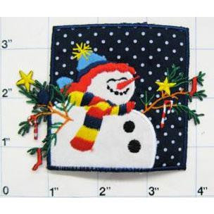 Snowman with Blue Sky and Star, 4