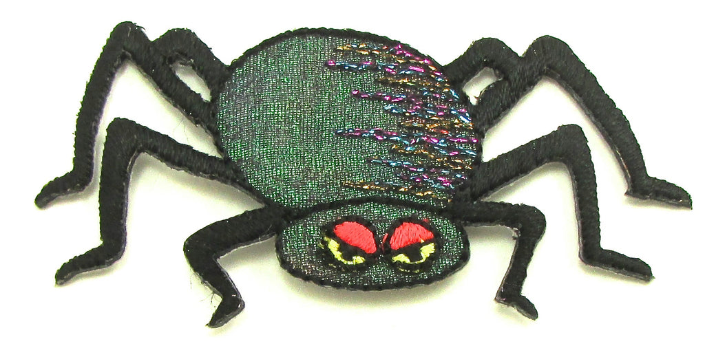 Spider for Halloween, Embroidered Iron-on 1.5 x 2.5""