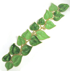 "Leafy Vine Choice of Turquoise/Green or Light/Dark Green Sequins and Beads  22"" x 5.5"""