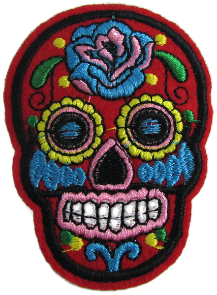 Sugar Skull Choice Of Color Embroidered Iron On 3 Quot X 2