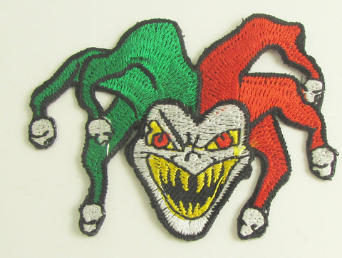 "Mardi Gras Jester A Mean one Embroidered Iron-On 2"" x 2.5"""