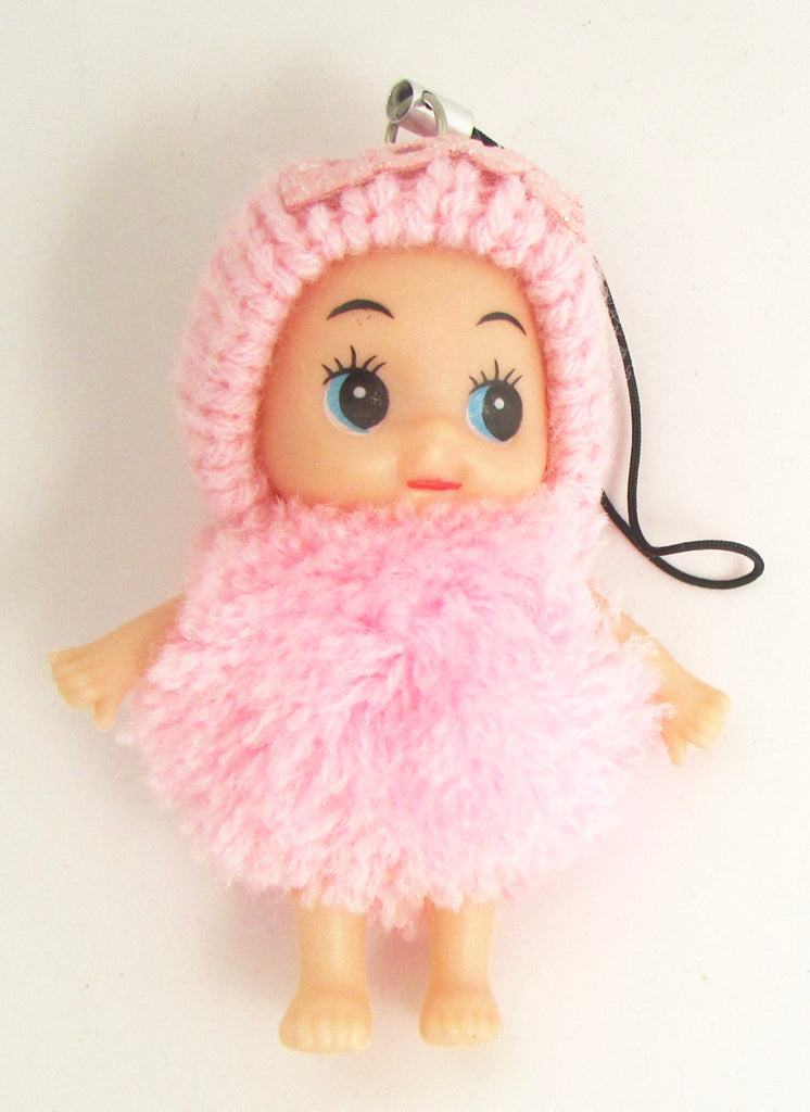 "Child Adorable Ornament Pink Puff Ball Dress and Hat says Love  3"" x 2"""