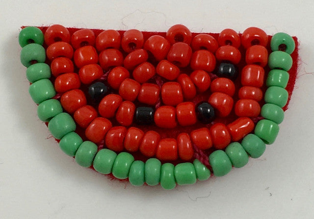 "Watermelon all red Beads 1.5""x .5"""