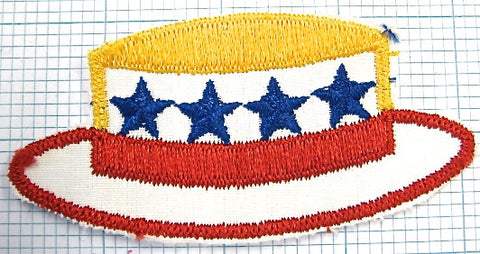 "Hat for Voters Political Embroidered 2"" x 4"""
