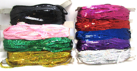 Sequins by the Yard  Sold by 3 YARDS each Nine (9) Different Colors