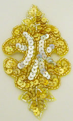 Designer Motif Gold and Silver Laser Sequins and Beads Three Sizes