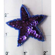 Load image into Gallery viewer, Star Purple Sequins Moonlight Beads 2""